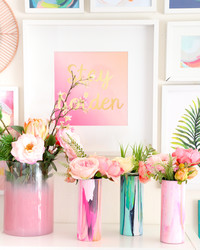 Happy Galentine's Day! It's a Crafternoon with DIY Flower Vases