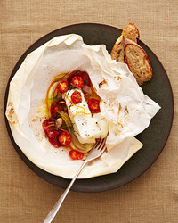 spanish cod with chorizo and fennel recipe plate