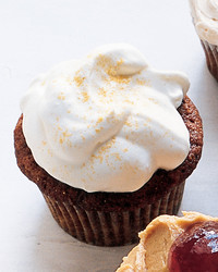 Ginger and Molasses Cupcakes with Whipped Cream
