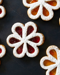 Just the Thing for Spring, That's Martha's Linzer Flower Cookies