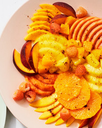 orange fruit salad with five spice powder