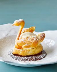 swan pate a choux martha bakes