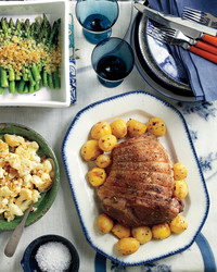 This Easy Dinner Menu Starring Roast Lamb and Spring Vegetables Is Perfect for Easter