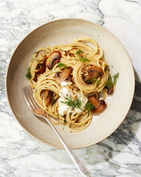 Mushroom-and-Dill Pasta with Creme Fraiche