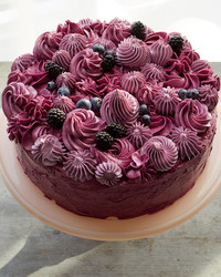 A Masterpiece from Last Season: Frosted Triple-Berry Cake