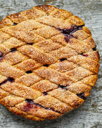 blueberry lattice pie martha bakes