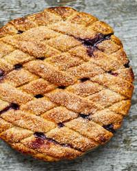 蓝莓格子派玛莎烘焙