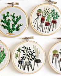 An Exclusive Look at Sarah K. Benning's Contemporary Embroidery