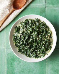 creamed coconut spinach