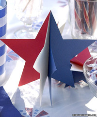 3-D Paper Star Decorations