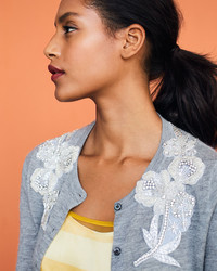Make Your Sweater Look New Again with Beaded Rhinestone Appliqués