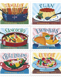 We Love the Postal Service's Cute New Stamps Celebrating Latin-American Food