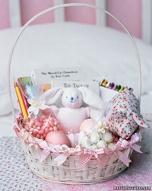 7 aww inspiring easter basket ideas for babies martha stewart classic childs easter basket negle Gallery