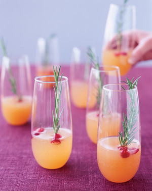 Holiday Champagne Cocktails