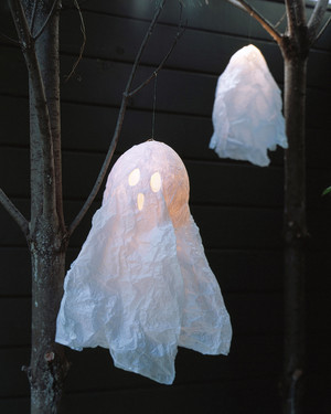 halloween crafts ideas - Halloween Ghost Decorations Outside