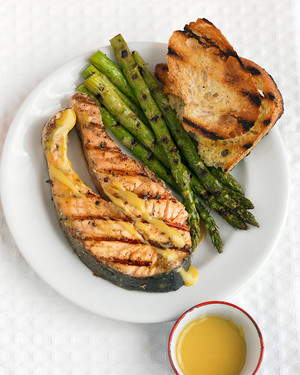 Grilled Salmon Steaks With Mustard Sauce And Asparagus Martha Stewart,How Long Are Car Seats Good For