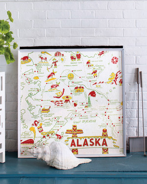 Map Textile Decorating Projects