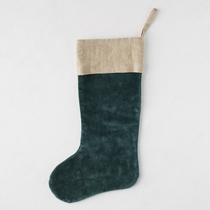 Terrain Velvet and Linen Stocking