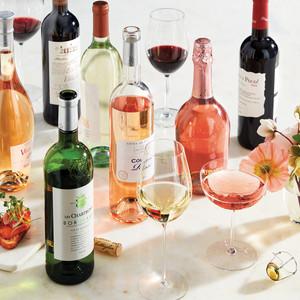 wine varieties glasses flowers