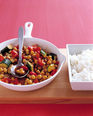 Spiced Chickpea and Zucchini Saute image