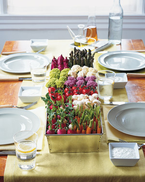 Outdoor Party Centerpieces