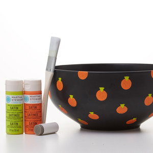 Graphic Pumpkin Candy Bowl