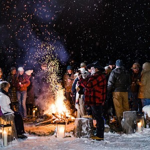 A Big-Sky Bonfire Party