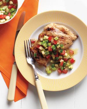 Emeril's Grilled Chicken Thighs and Garden Salsa