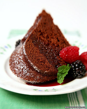 Martha Steward Chocolate Cabernet Cake