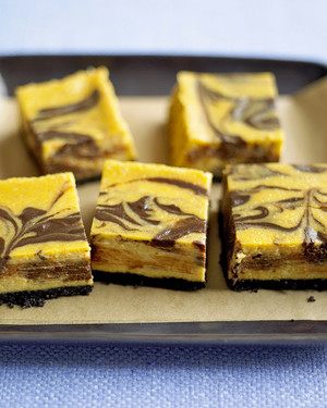 Chocolate Pumpkin Cheesecake Bars Recipe Martha Stewart