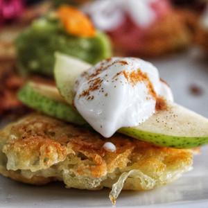 Bartlett Pear with Cinnamon Crème-Fraîche
