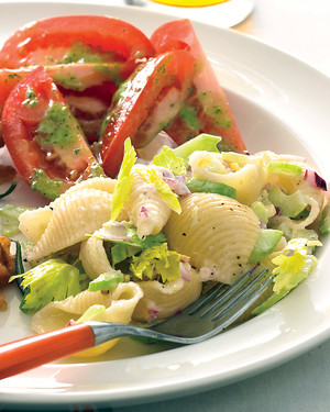 Creamy Pasta Salad with Celery
