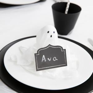 bootiful halloween cloth ghost placecard