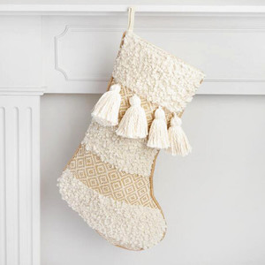 Cost Plus World Market Ivory Moroccan Wedding Stocking