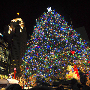 Detroit's Christmas tree