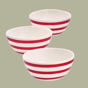 Martha Stewart Collection Striped Dip Bowels