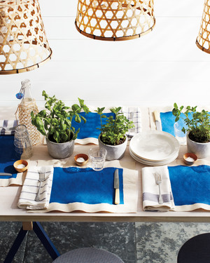 Shades of Blue: Summer Party Decorations