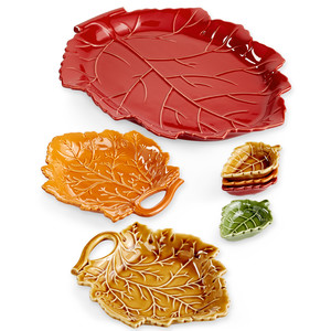 Martha Stewart Collection Harvest Leaf Serveware