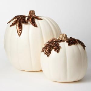 applique pumpkins bronze