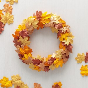 Painted Fall Leaf Wreath