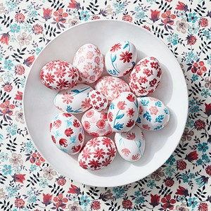 Floral Stamped Easter Eggs