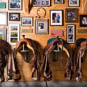 tack room saddles barn