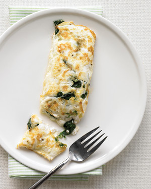 egg white omelet with spinach and cottage cheese rh marthastewart com
