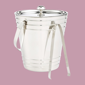 Martha Stewart Collection Ice Bucket with Tongs