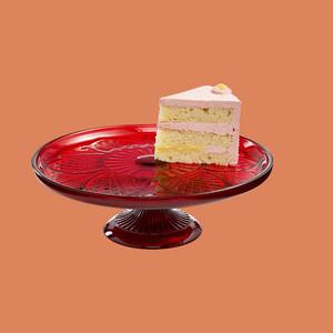 Martha Stewart Collection Royal Blush Glass Cake Stand