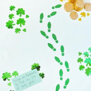 leprechaun footprints st patricks day craft