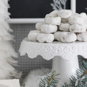 Miniature Powdered Doughnuts