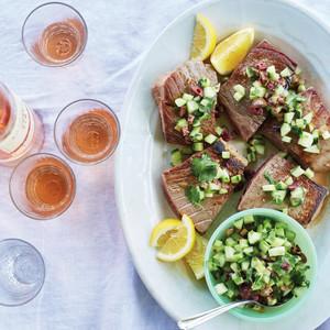 Bluefin Tuna with Olive, Cucumber, and Cilantro Relish