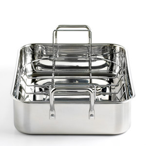 Martha Stewart Collection Stainless Steel Roaster