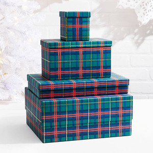 Paper Source Plaid Gift Box